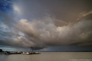 Rainbow over the Suriname river